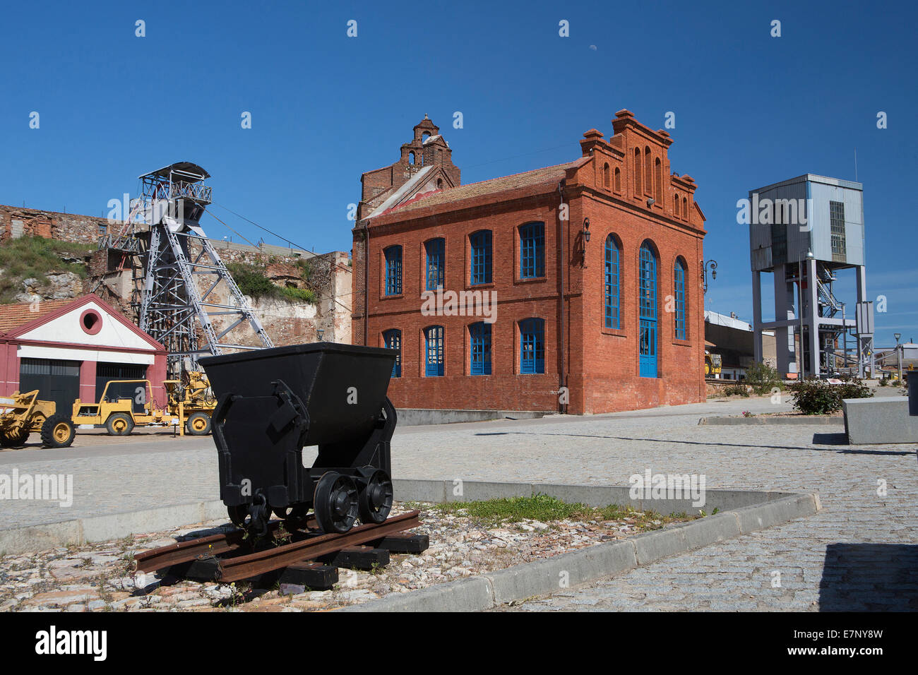 industry, world heritage, Unesco, Almaden, Castile La Mancha, City, Ciudad Real, Mercury, Mines, Spain, Europe, - Stock Image