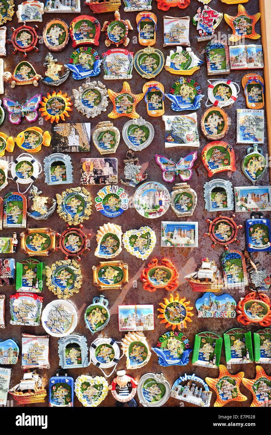 Balkans, Souvenir, Montenegro, tourism, colourful - Stock Image