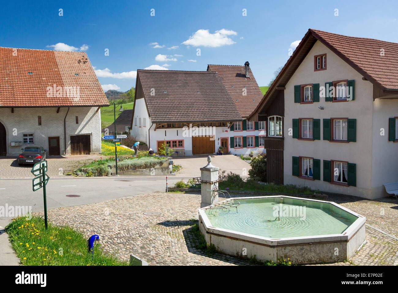 Anwil, spring, canton, Basel land, village, Switzerland, Europe, - Stock Image