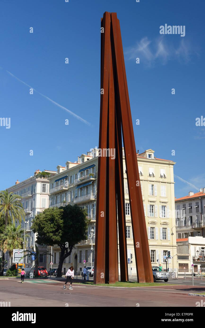 Europe, France, Provence-Alpes-Côte d'Azur, Provence, Nice, Nizza, art, sculpture - Stock Image