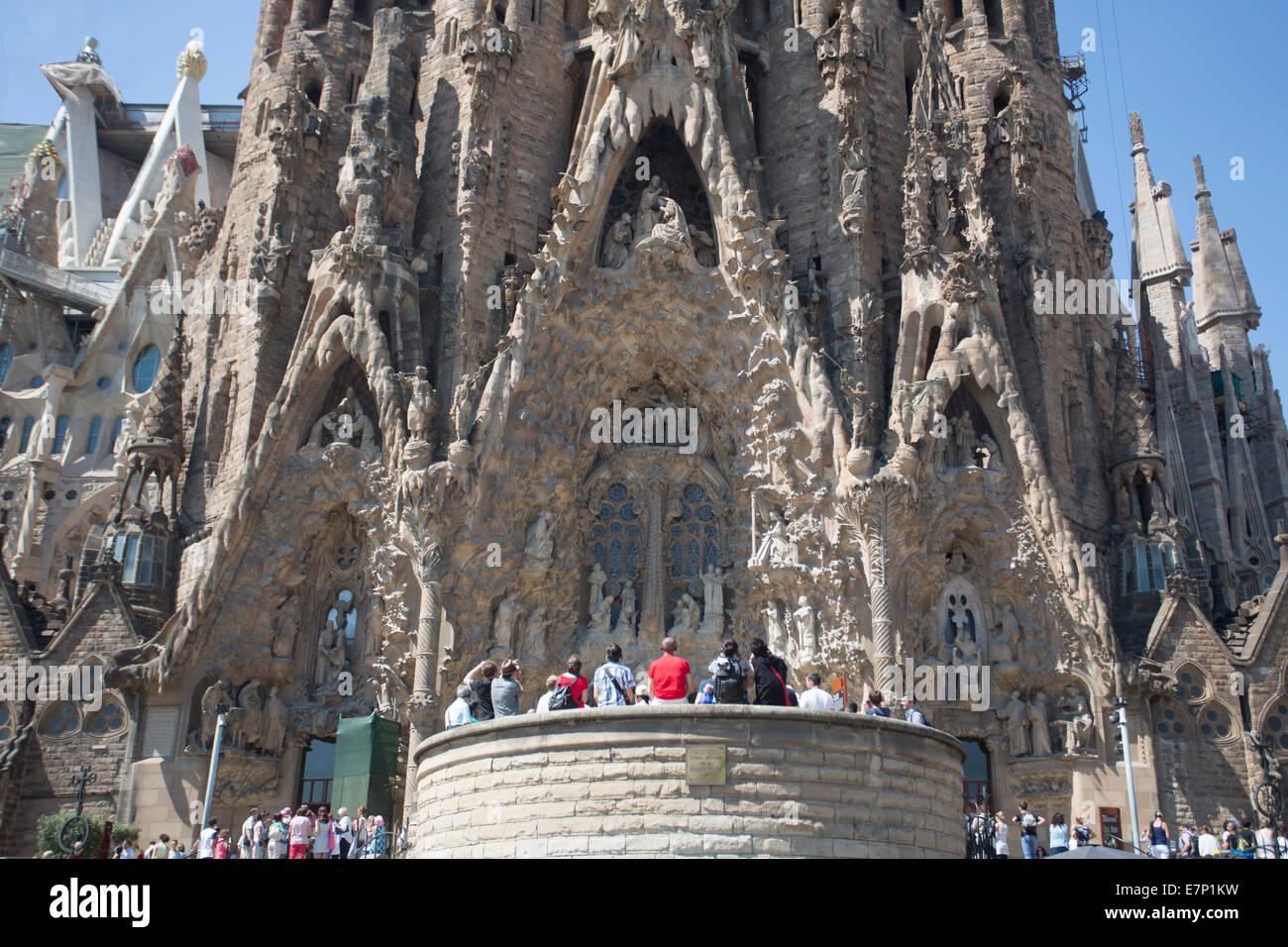 Gaudi World Heritage Architecture Art Barcelona Catalonia Colourful Famous Sagrada Familia Skyline Spain Europe Tour