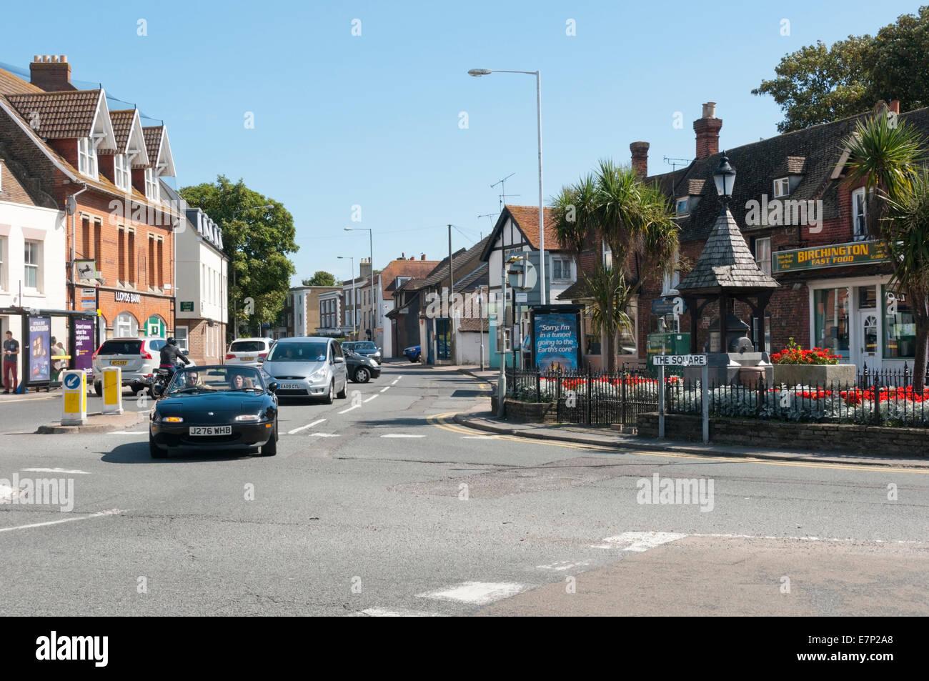 The Kent village of Birchington-on-Sea. - Stock Image