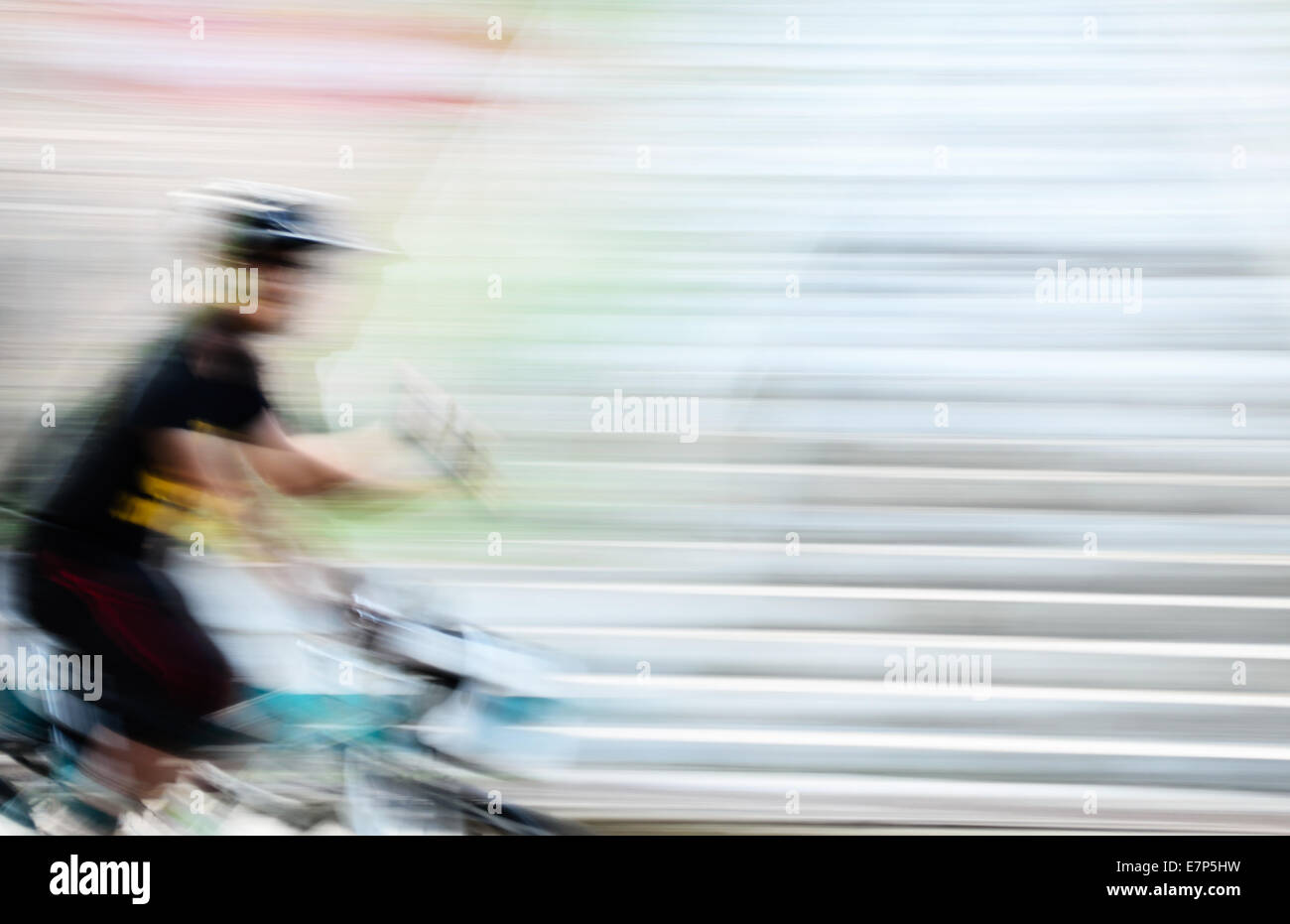The Speed Bicycle in Motion Blur. - Stock Image