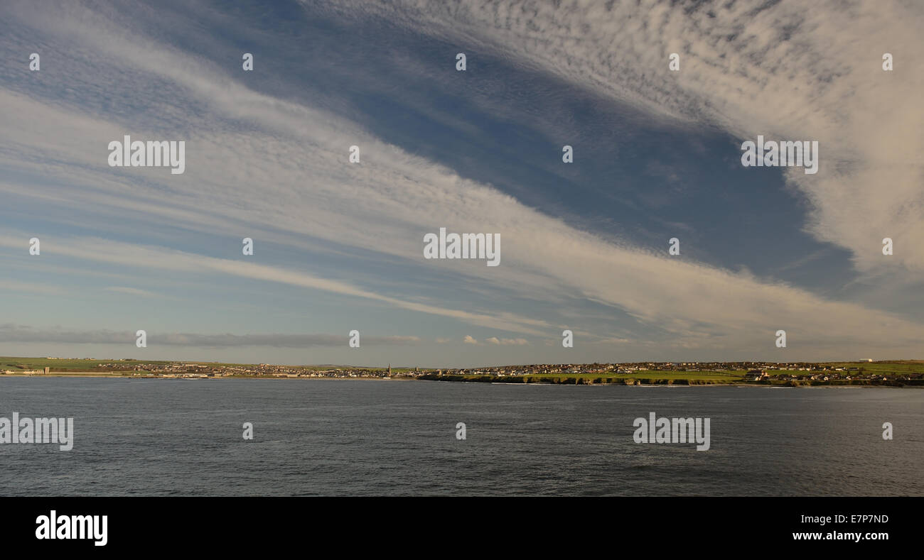 Evening light over Thurso, the most northerly town on the British mainland. - Stock Image