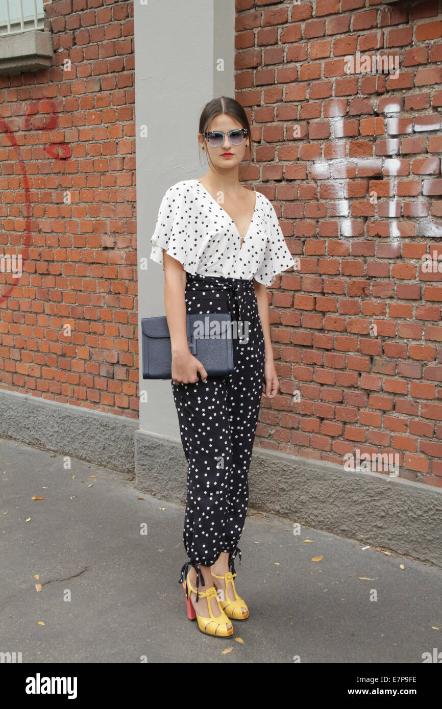 Alexandra Benenti arriving at the Fendi Spring/Summer 2015 runway show in Milan, Italy - Sept 18, 2014 - Photo: - Stock Image