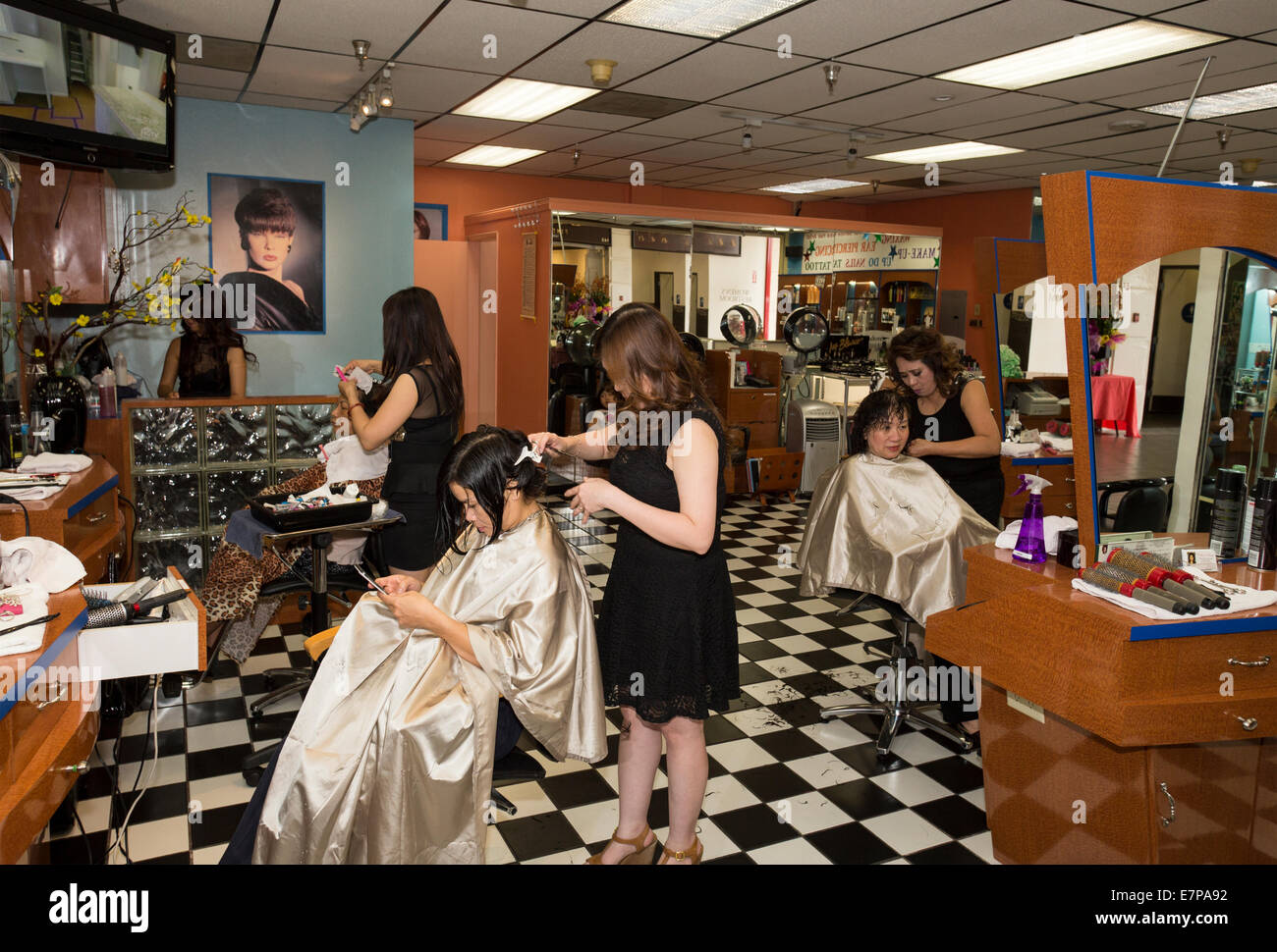 vietnamese hair salon stock photos & vietnamese hair salon stock