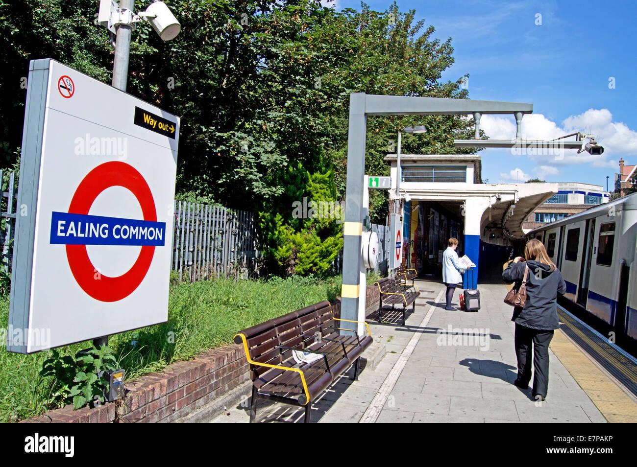 Ealing Common Underground Station, London Borough of Ealing, London, England, United Kingdom Stock Photo