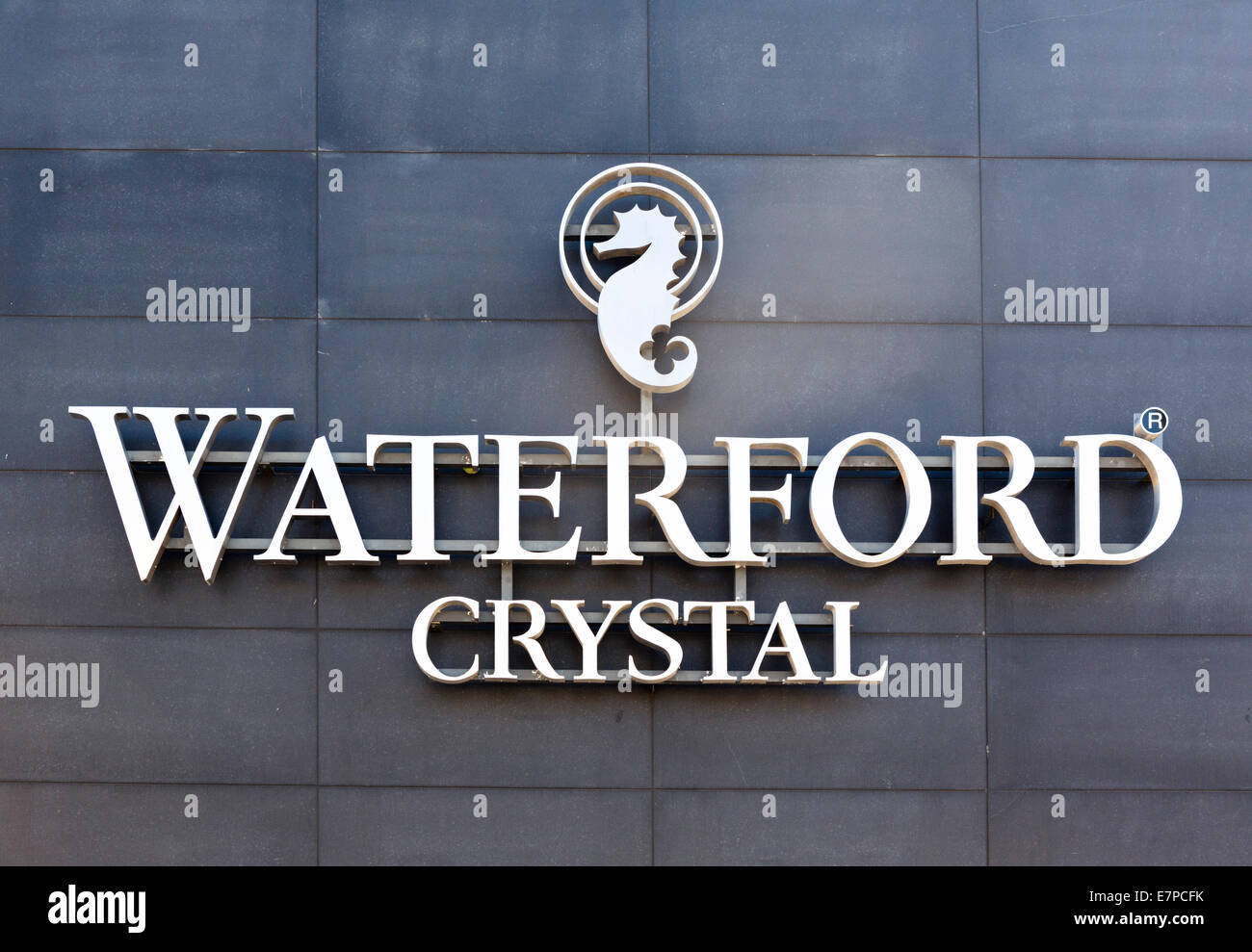 The Waterford Crystal showroom and factory,  Waterford City, County Waterford,  Republic of Ireland - Stock Image