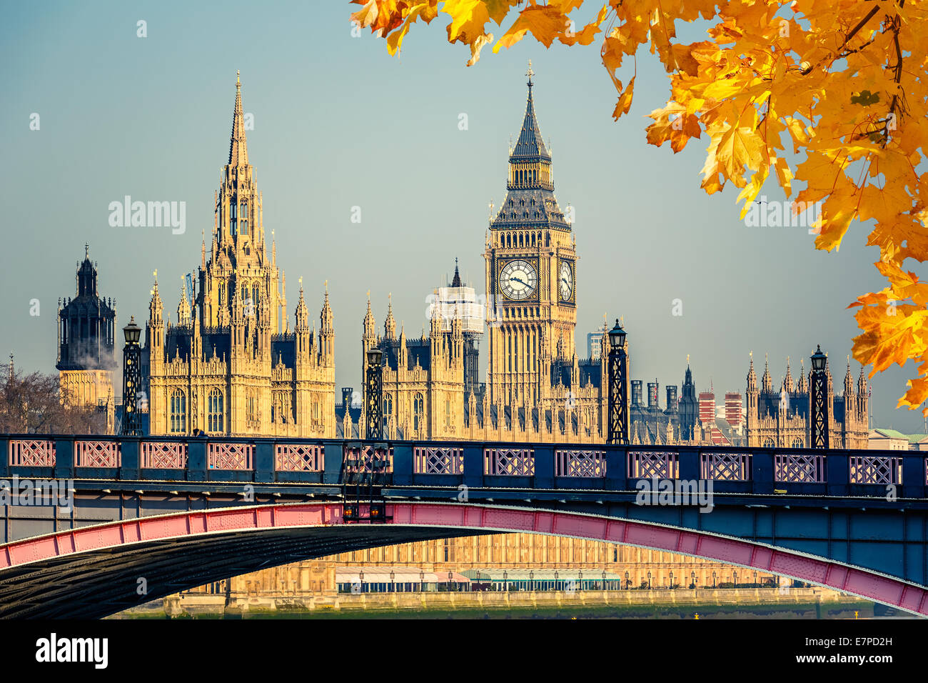 Big Ben and Houses of Parliament - Stock Image