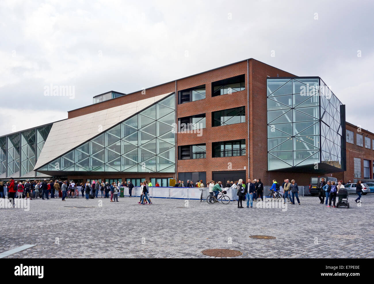 Kulturvaerftet og Bibliotek (The Culture Yard and Library) on the waterfront in Elsinore Denmark - Stock Image