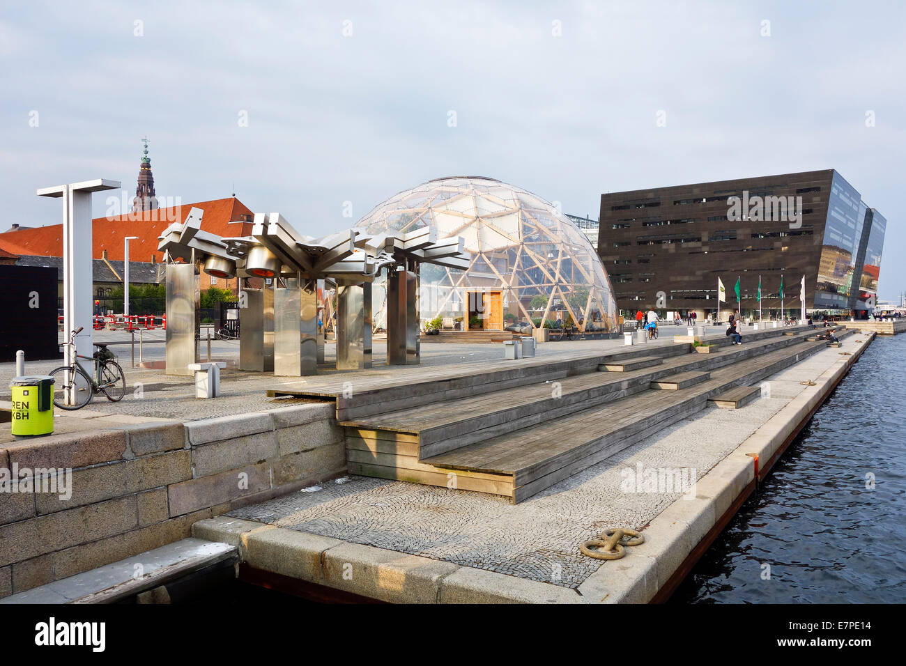 Newly built Dome of Visions in front of the Royal Library on Søren Kierkegaards Plads in Copenhagen Denmark - Stock Image