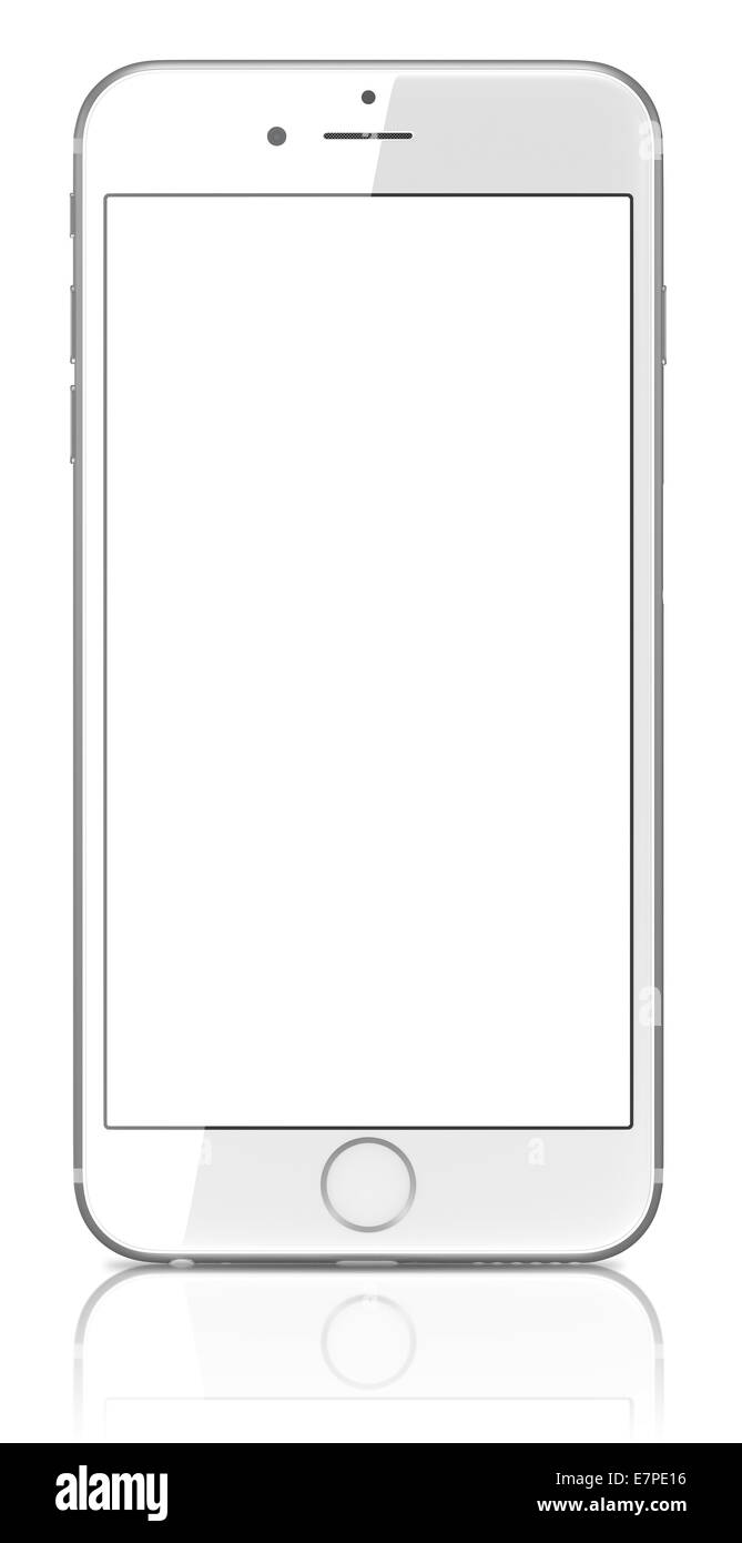 new arrivals e41a8 a7a2b Apple Silver iPhone 6 Plus with blank screen Stock Photo: 73638018 ...