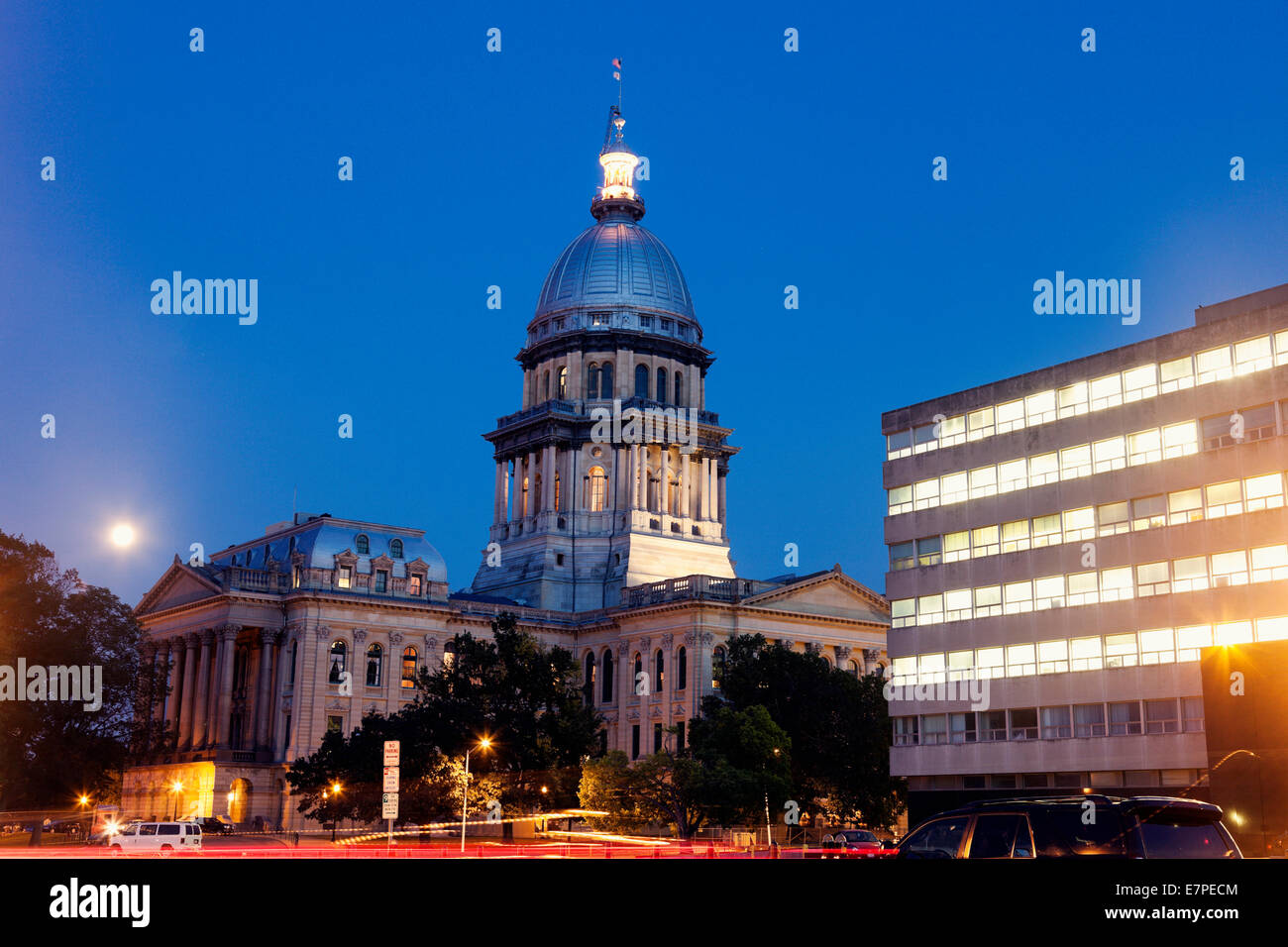 USA, Illinois, Springfield, State Capitol Building - Stock Image
