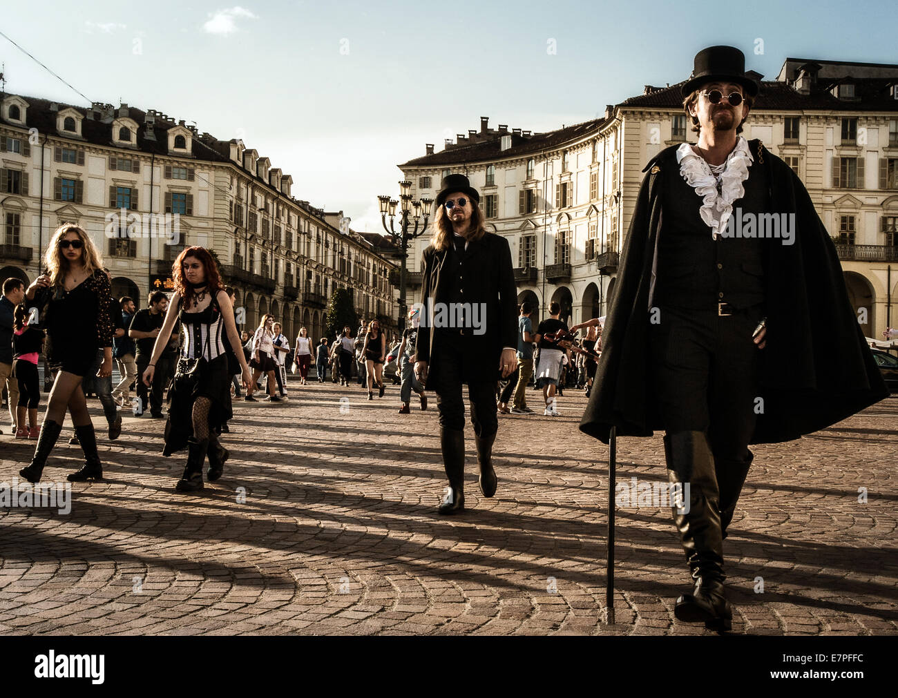 Turin, Italy. 21st Sep, 2014. Zombie Walk in Turin, Italy. Credit:  Realy Easy Star/Alamy Live News - Stock Image