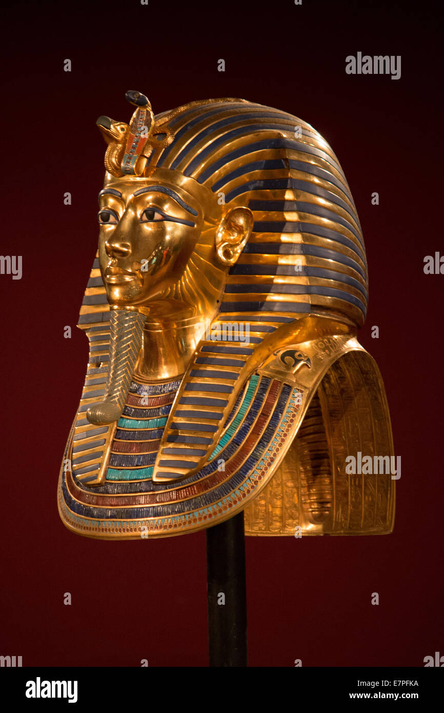 Side view of King Tut - Stock Image