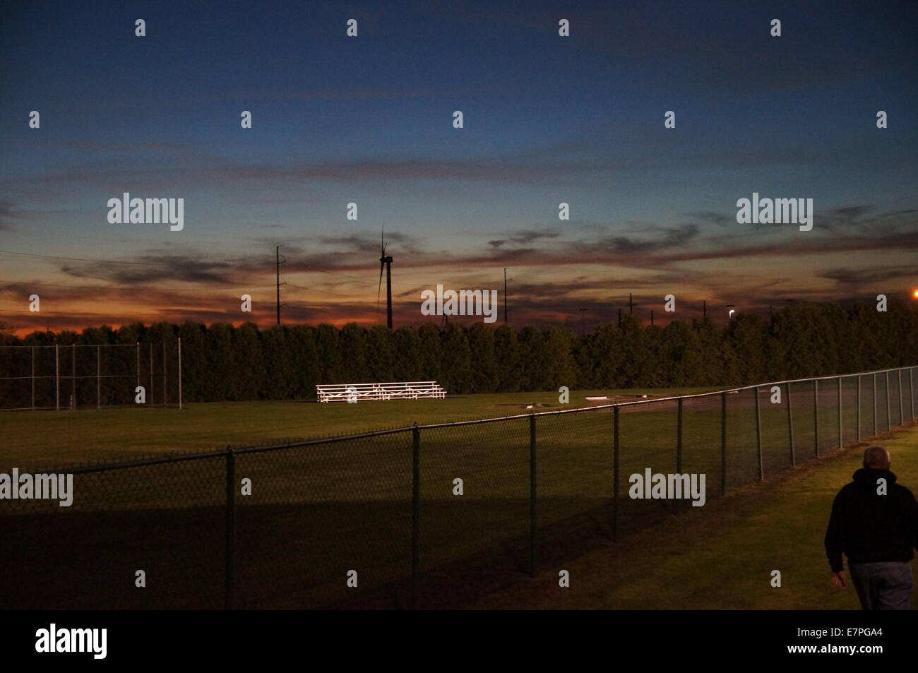 Behind the football game - Stock Image