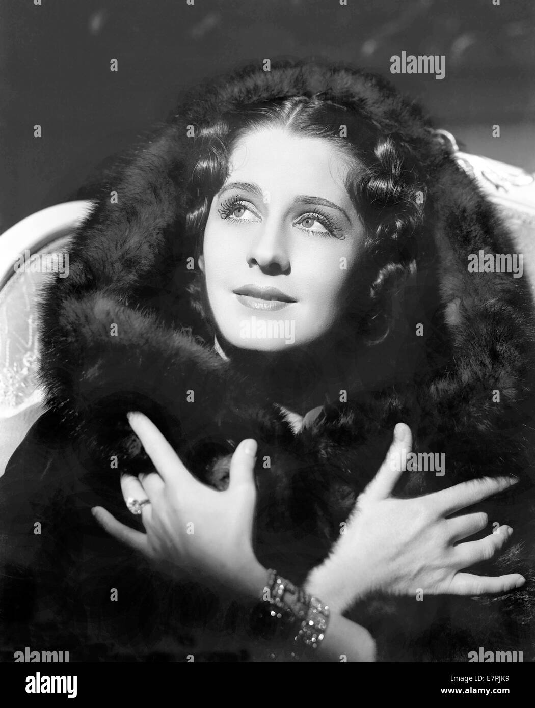 NORMA SHEARER (1902-1983)  Canadian film actress about 1940 - Stock Image