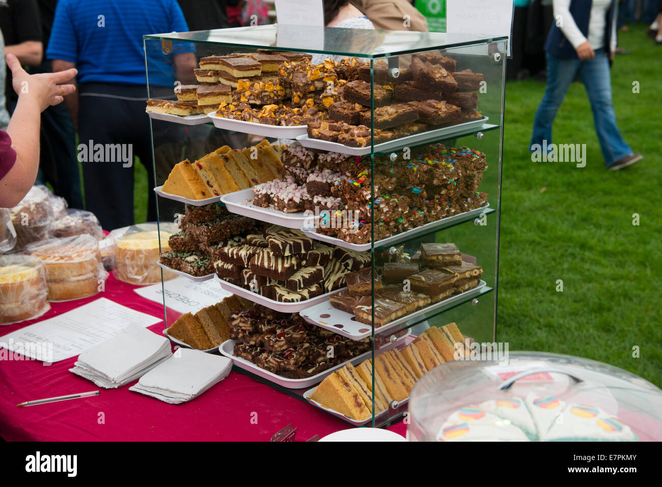 Handmade In Ludlow stall at the 2014 Ludlow Food Festival, Friday 12th September. - Stock Image