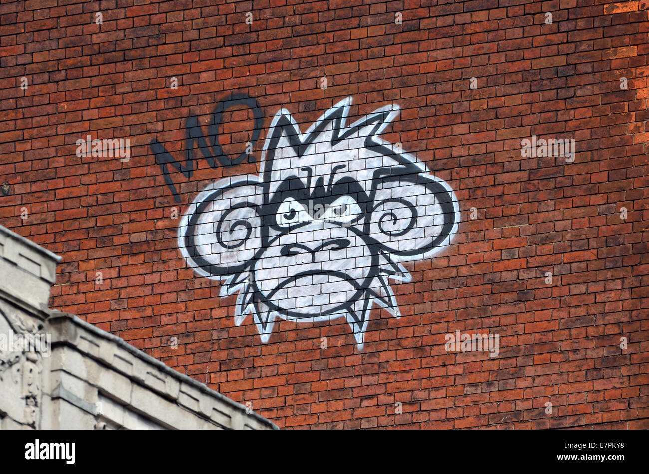 London, England, UK. 'Mighty Monkey' graffiti on Oxford Street by street artist Mighty Mo - Stock Image