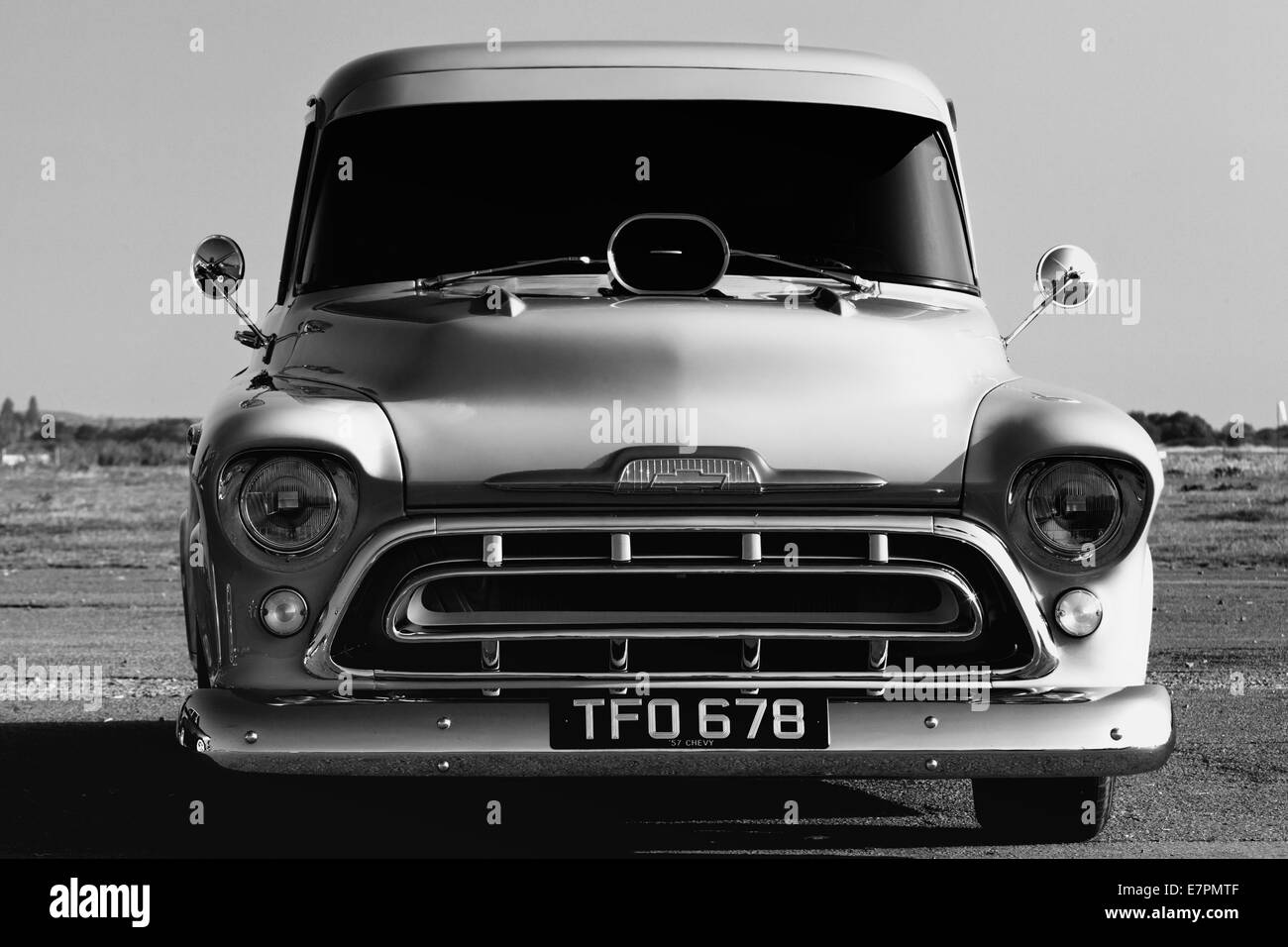 1957 Chevrolet Pick Up Truck Chevy Classic American Car Black And White