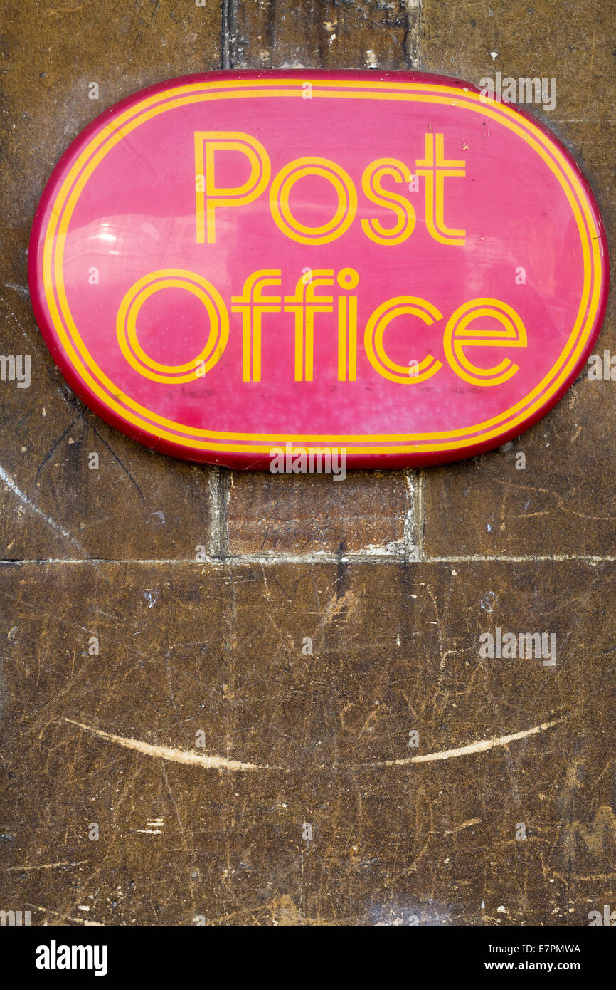 Post Office sign on a wall - Stock Image