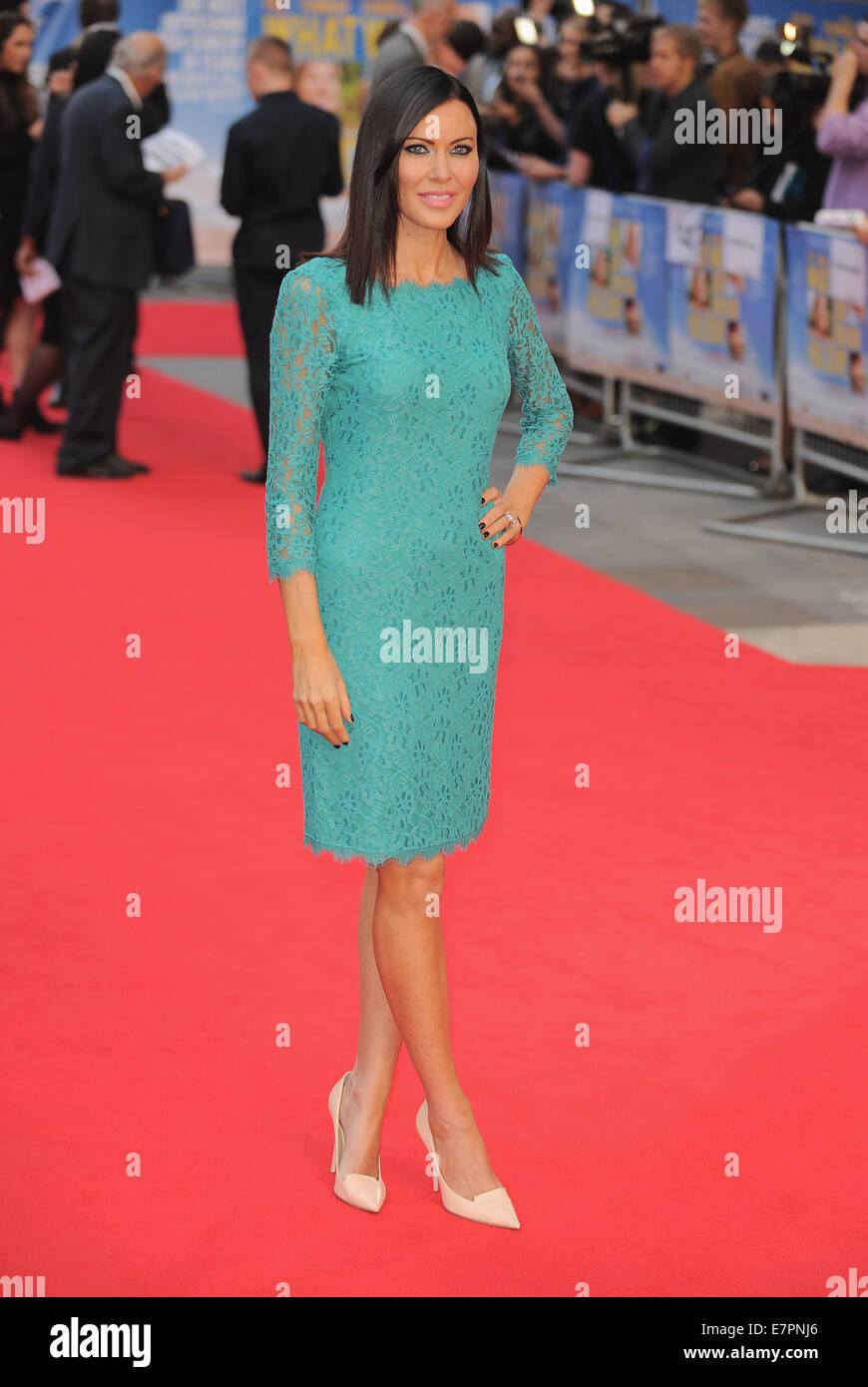 London, UK, UK. 22nd Sep, 2014. Linzi Stoppard attends UK premiere of 'What We Did On Our Holiday' at Odeon - Stock Image