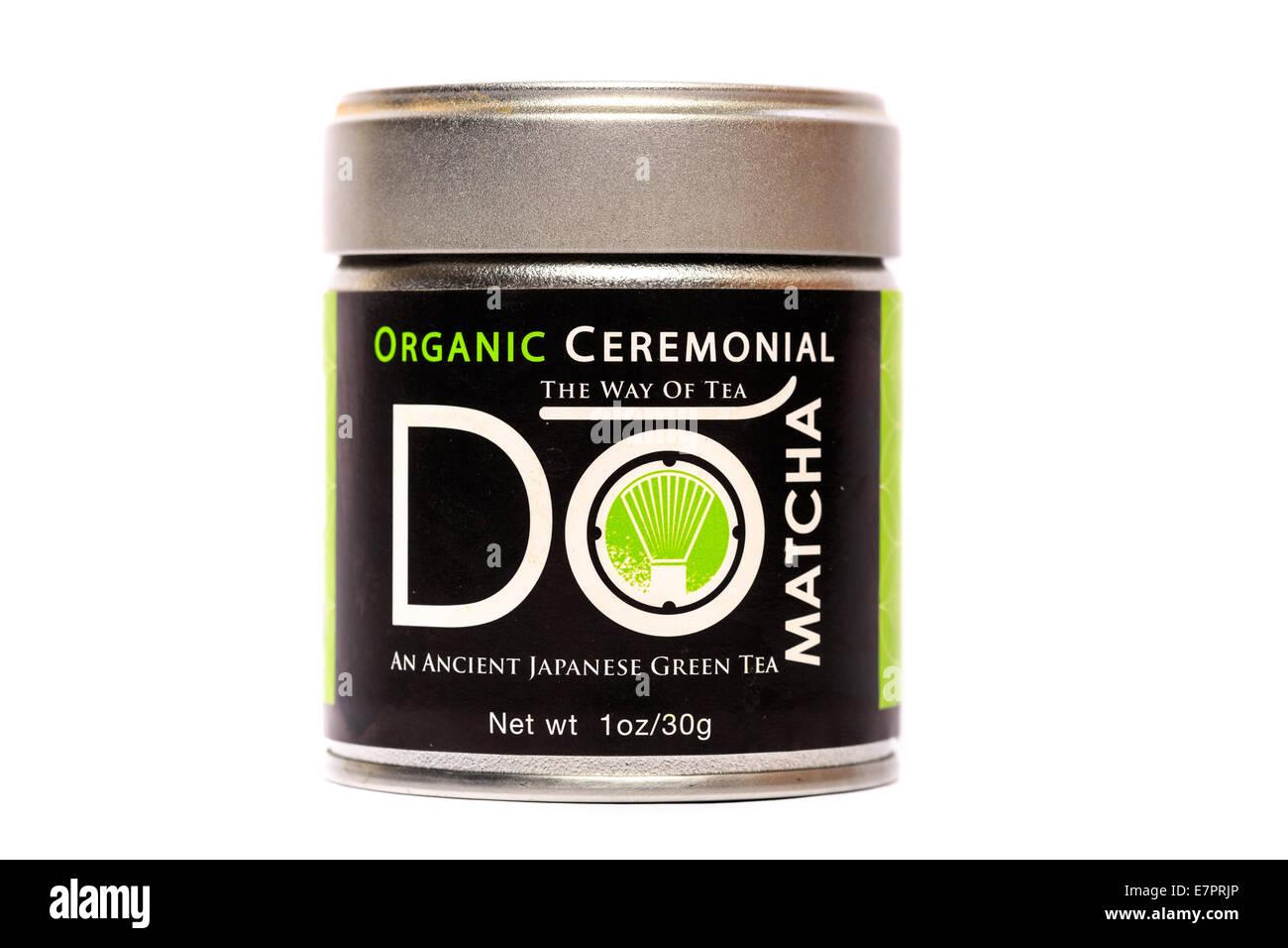 Do brand Organic Ceremonial Green Tea - Stock Image