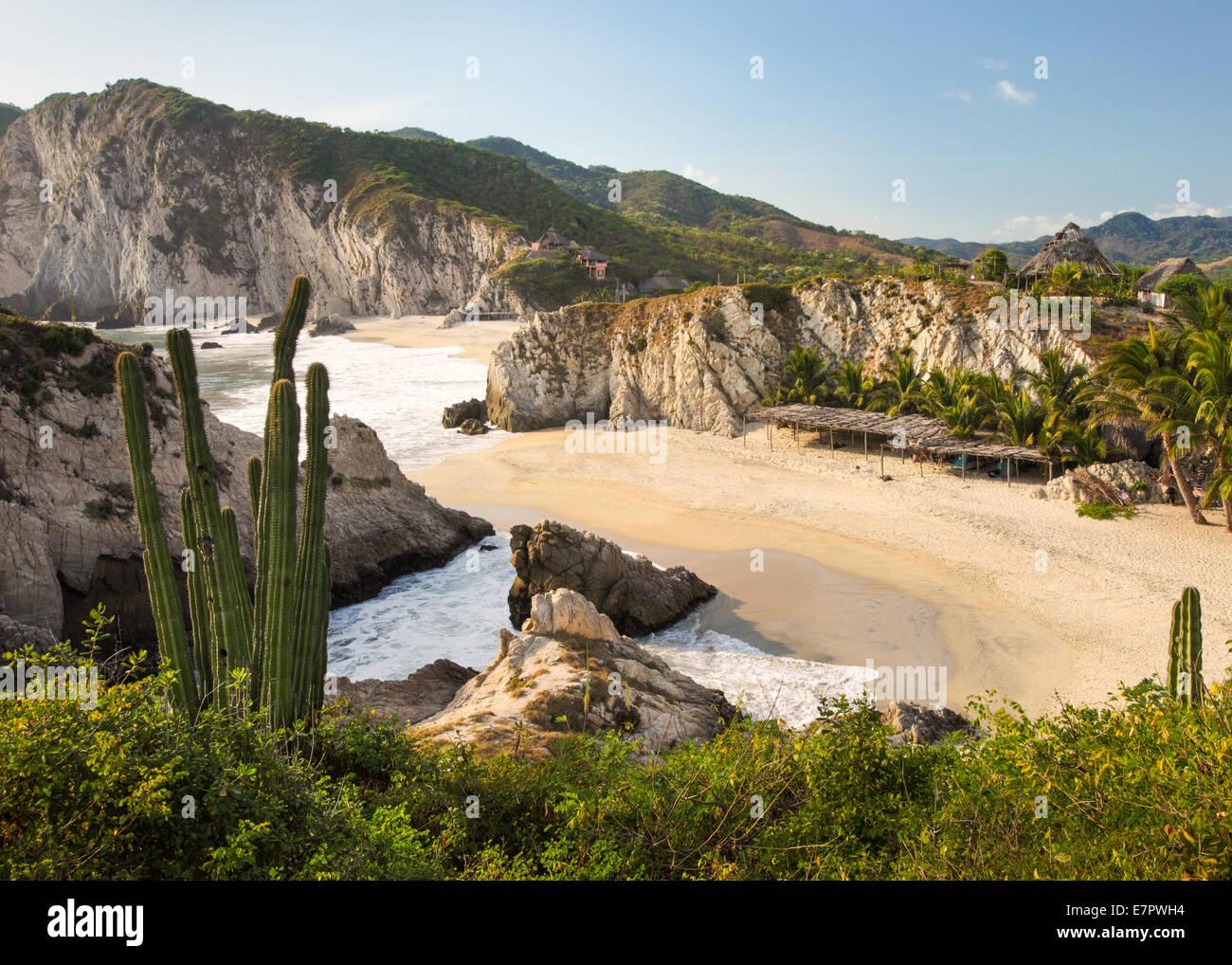 Maruata Beach in Michoacan, Mexico. - Stock Image