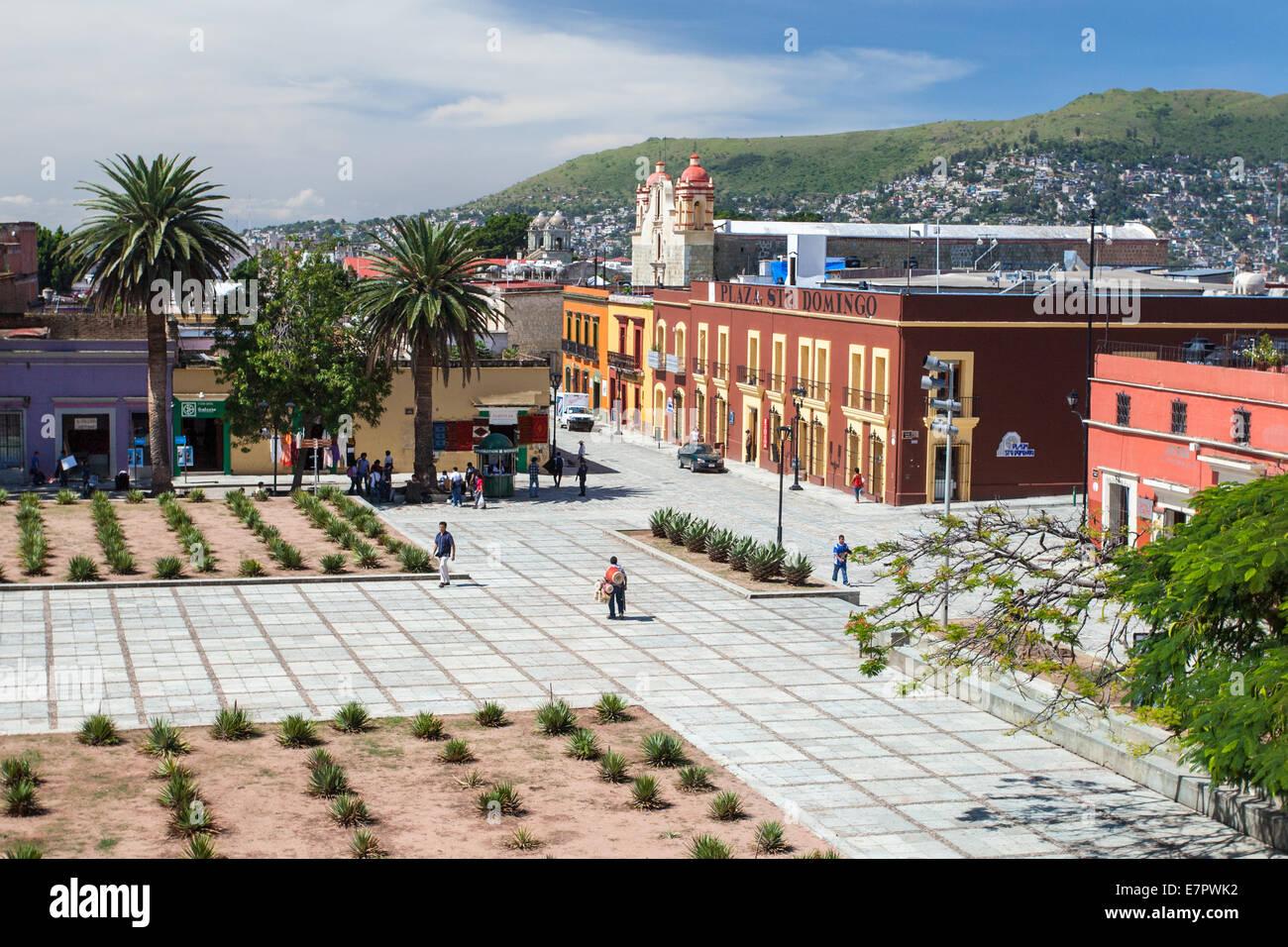 Santo Domingo Plaza in the historic downtown area of Oaxaca, Mexico. - Stock Image