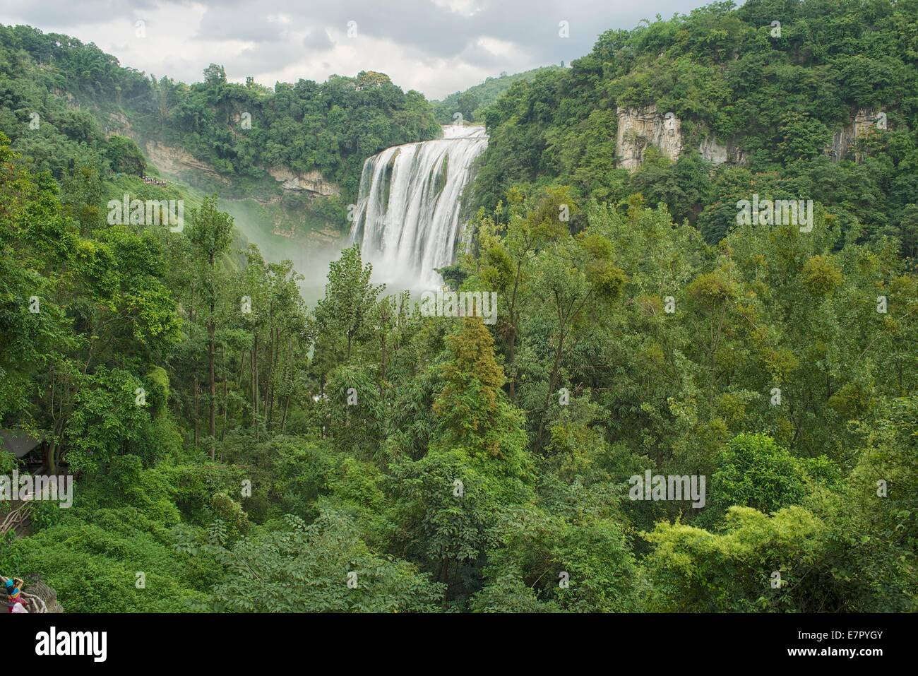 Huangguoshu Waterfall Baishui River Anshun City Guizhou Province China - Stock Image