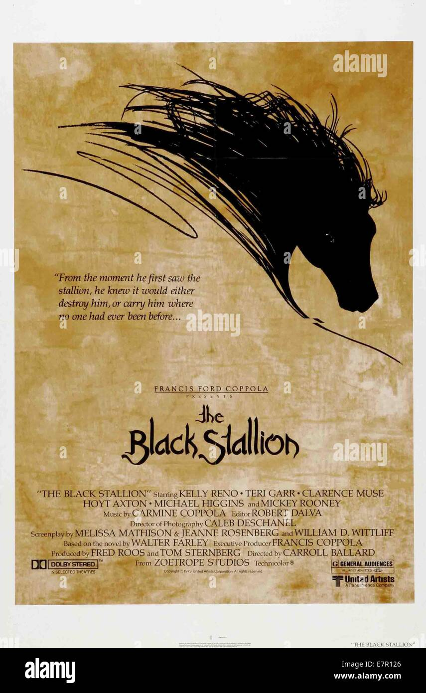 The Black Stallion  Year : 1979 USA Director : Carroll Ballard Movie poster (USA) - Stock Image