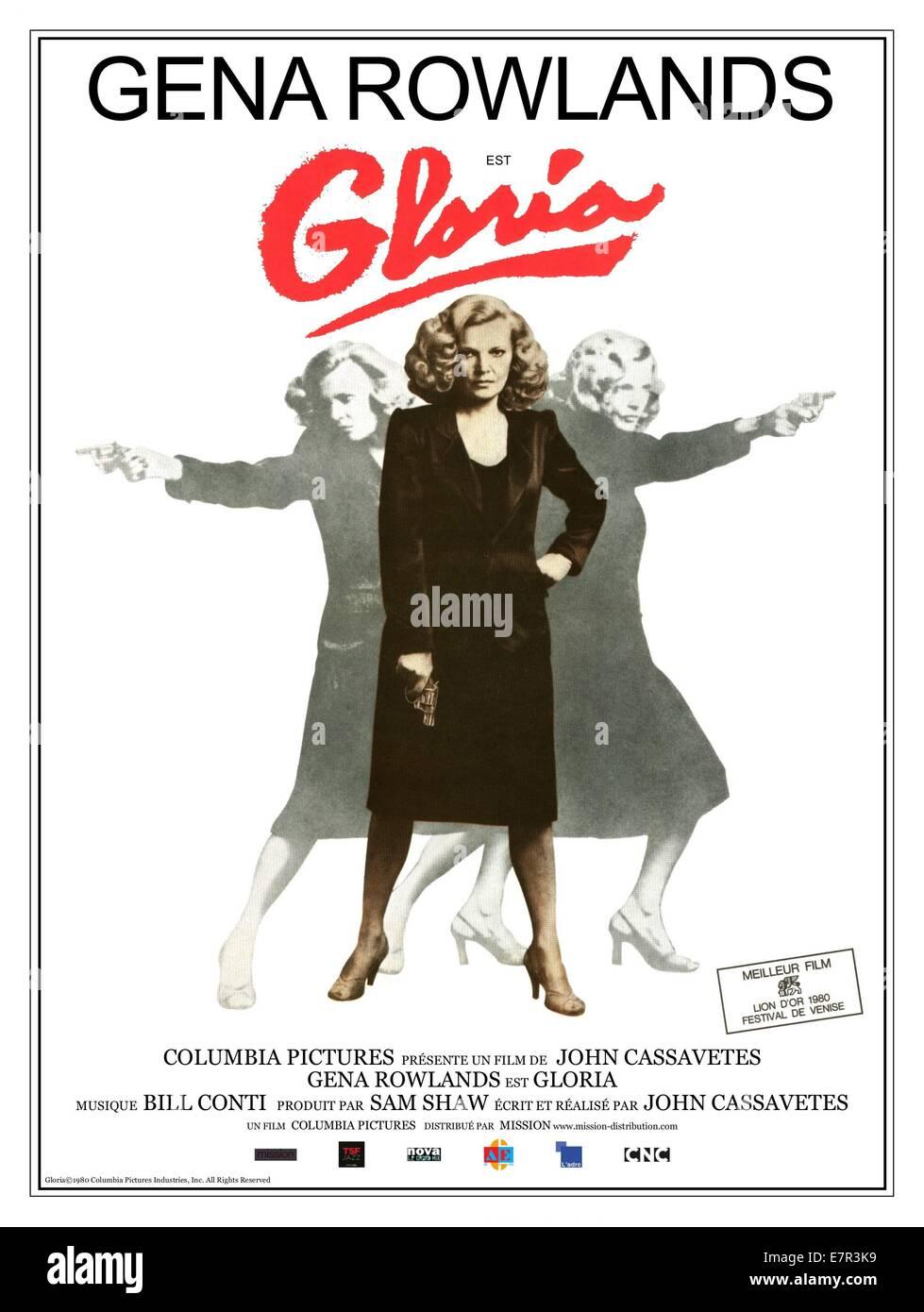 Gloria  Year : 1980 USA Director : John Cassavetes Gena Rowlands Movie poster (Fr) - Stock Image