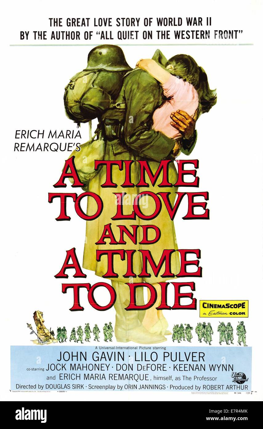 A Time to Love And A Time To Die Year : 1958 USA Director : Douglas Sirk Movie poster (USA) - Stock Image