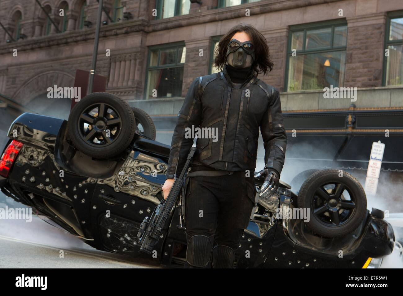 Captain America: The Winter Soldier Year : 2014 USA Director : Anthony Russo, Joe Russo  Sebastian Stan - Stock Image