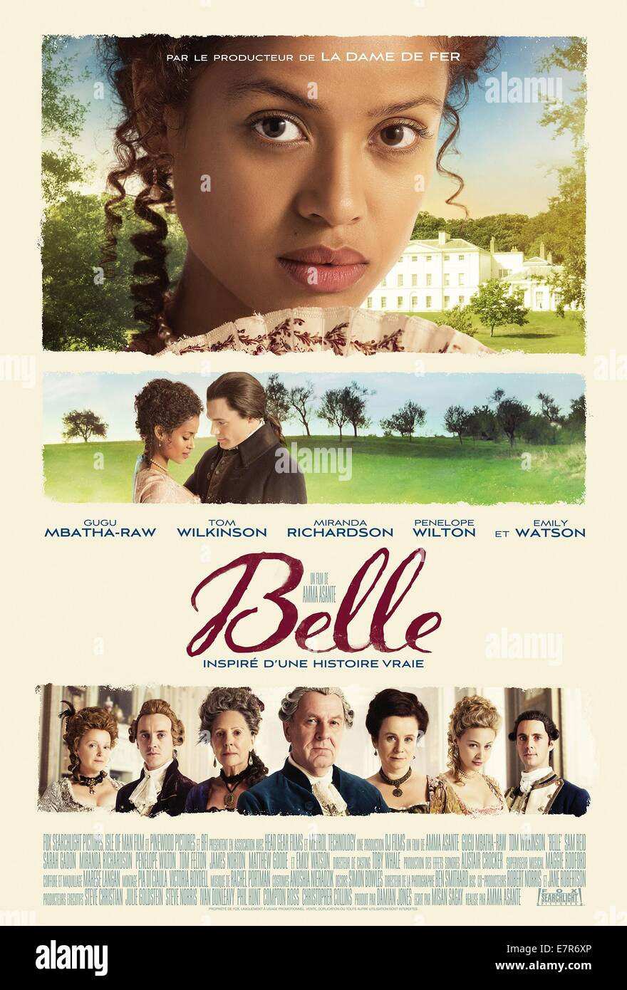 Belle Year : 2013 UK Director : Amma Asante Gugu Mbatha-Raw - Stock Image