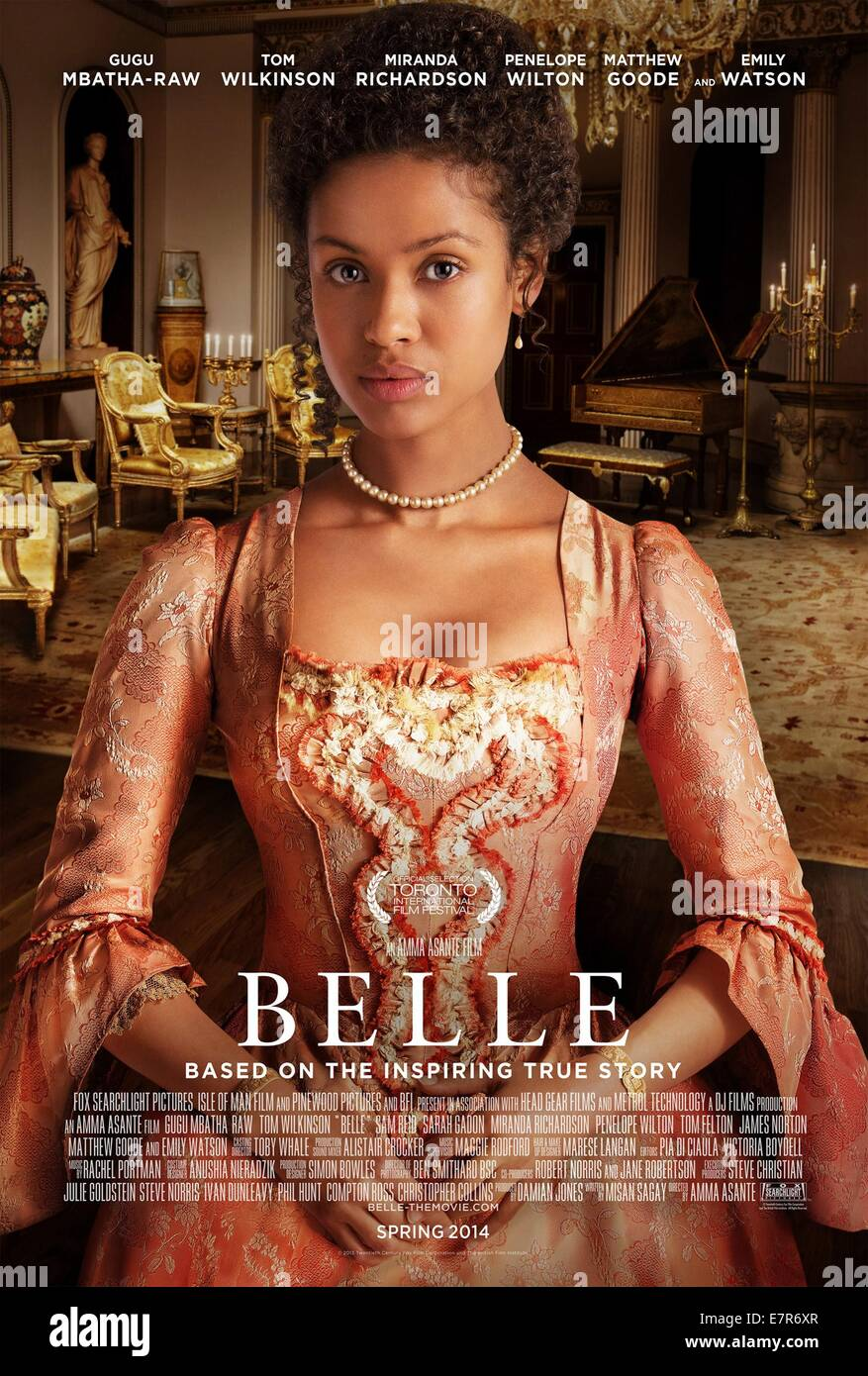 Belle Year : 2013 UK Director : Amma Asante Gugu Mbatha-Raw Movie poster (UK) - Stock Image