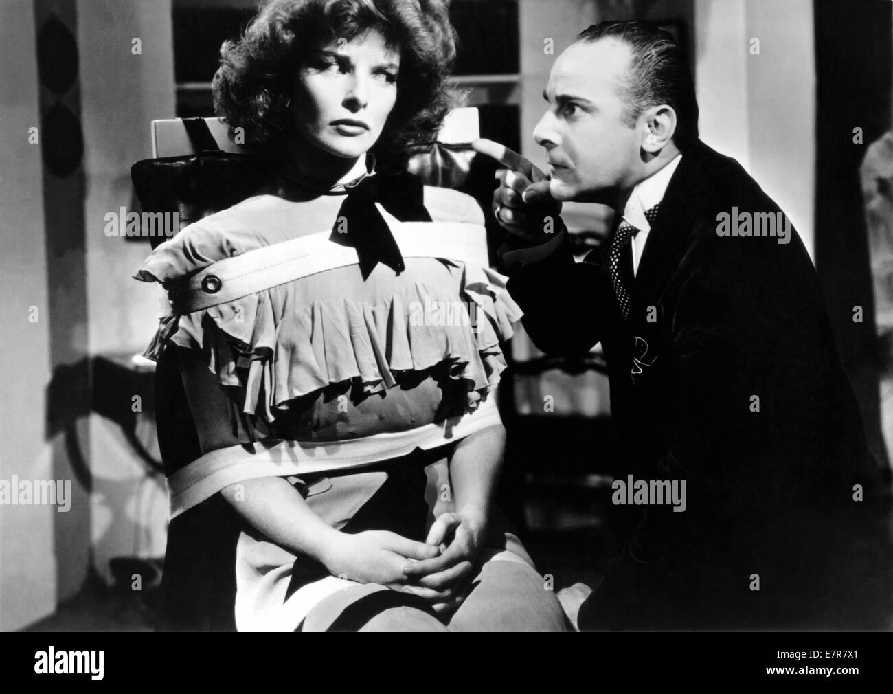 Bringing up Baby Year : 1938 USA Director : Howard Hawks Katharine Hepburn, Fritz Feld - Stock Image