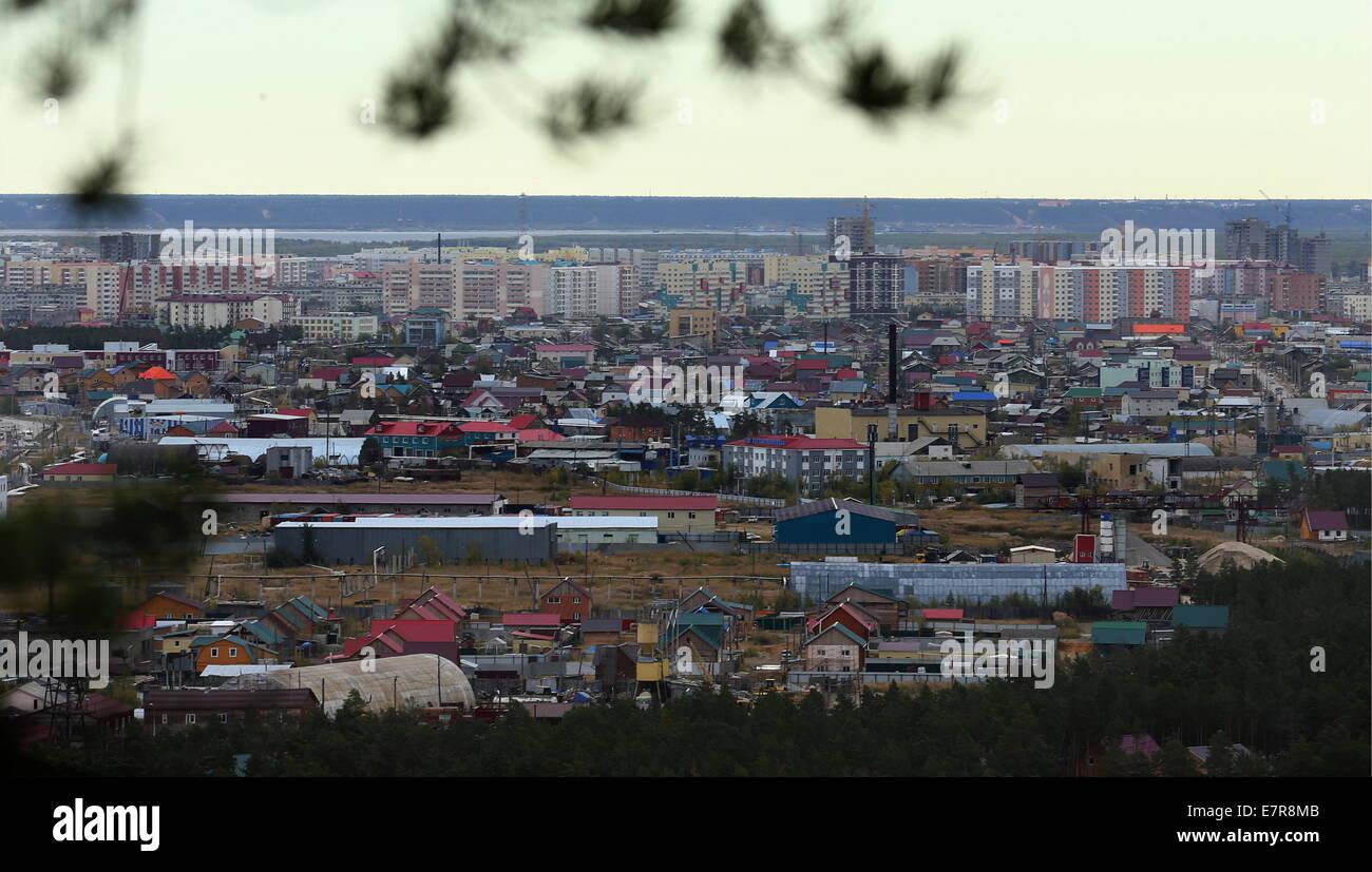 Yakutsk, Russia. 23rd Sep, 2014. A view of the city. © Valery Sharifulin/ITAR-TASS/Alamy Live News - Stock Image