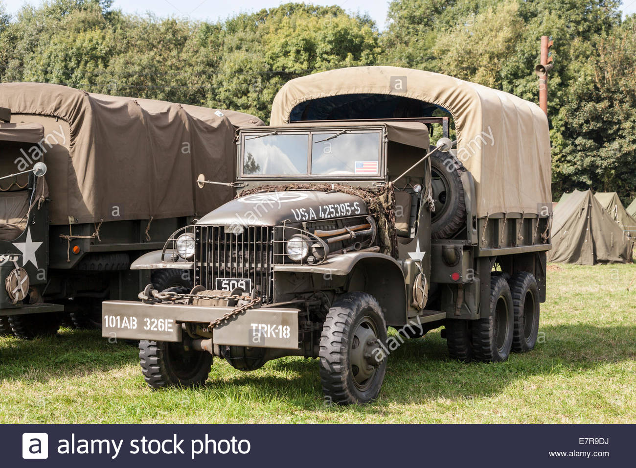 World War Two US Army Truck - Stock Image