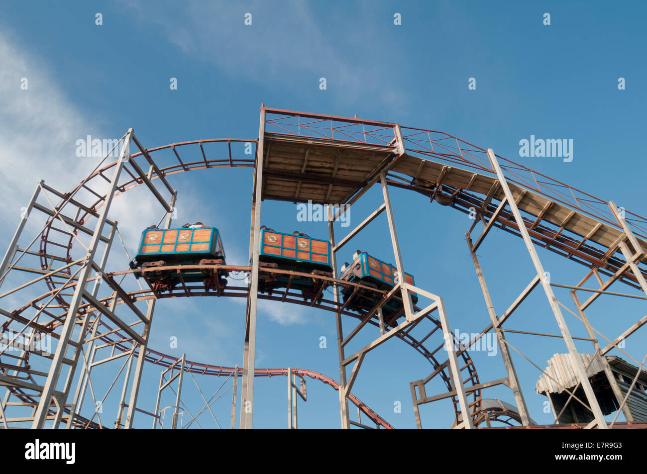 old roller coaster ride on Hayling Island seafront, Hampshire Stock ...