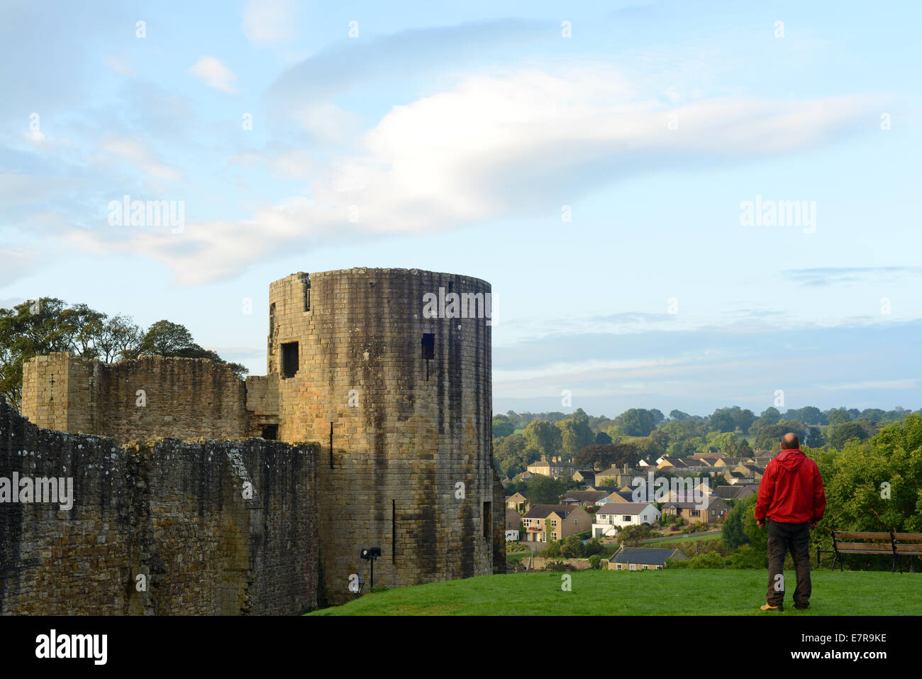 Barnard Castle, County Durham, UK. 23rd September 2014. UK Weather. A clear Autumn Day at Barnard Castle, County - Stock Image