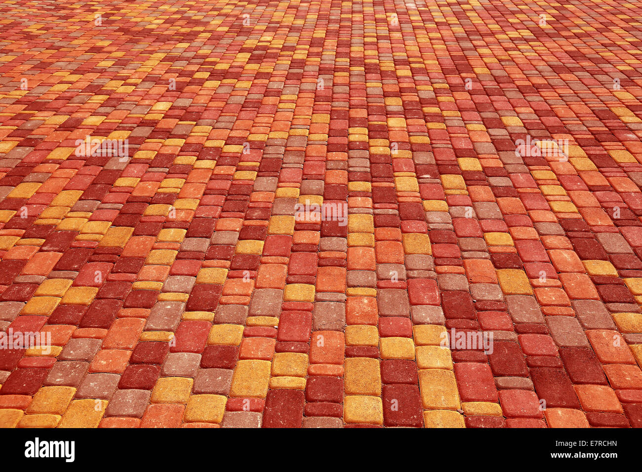 Background color tiles. Colored tiles on the square Stock Photo