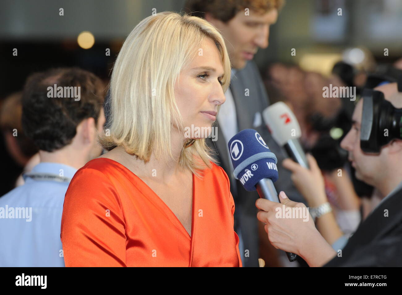 Cologne, Germany. 16th Sep, 2014. Silke Nowitzki, sister ...  Cologne, German...