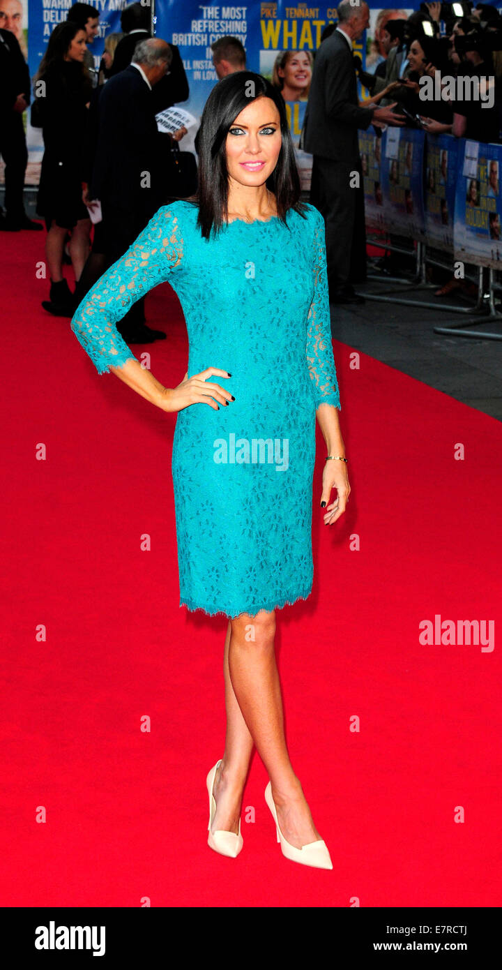 London, UK. 22nd Sep, 2014. Linzi Stoppard  attend the UK Premiere of What We Did On Our Holiday at the Odeon West - Stock Image