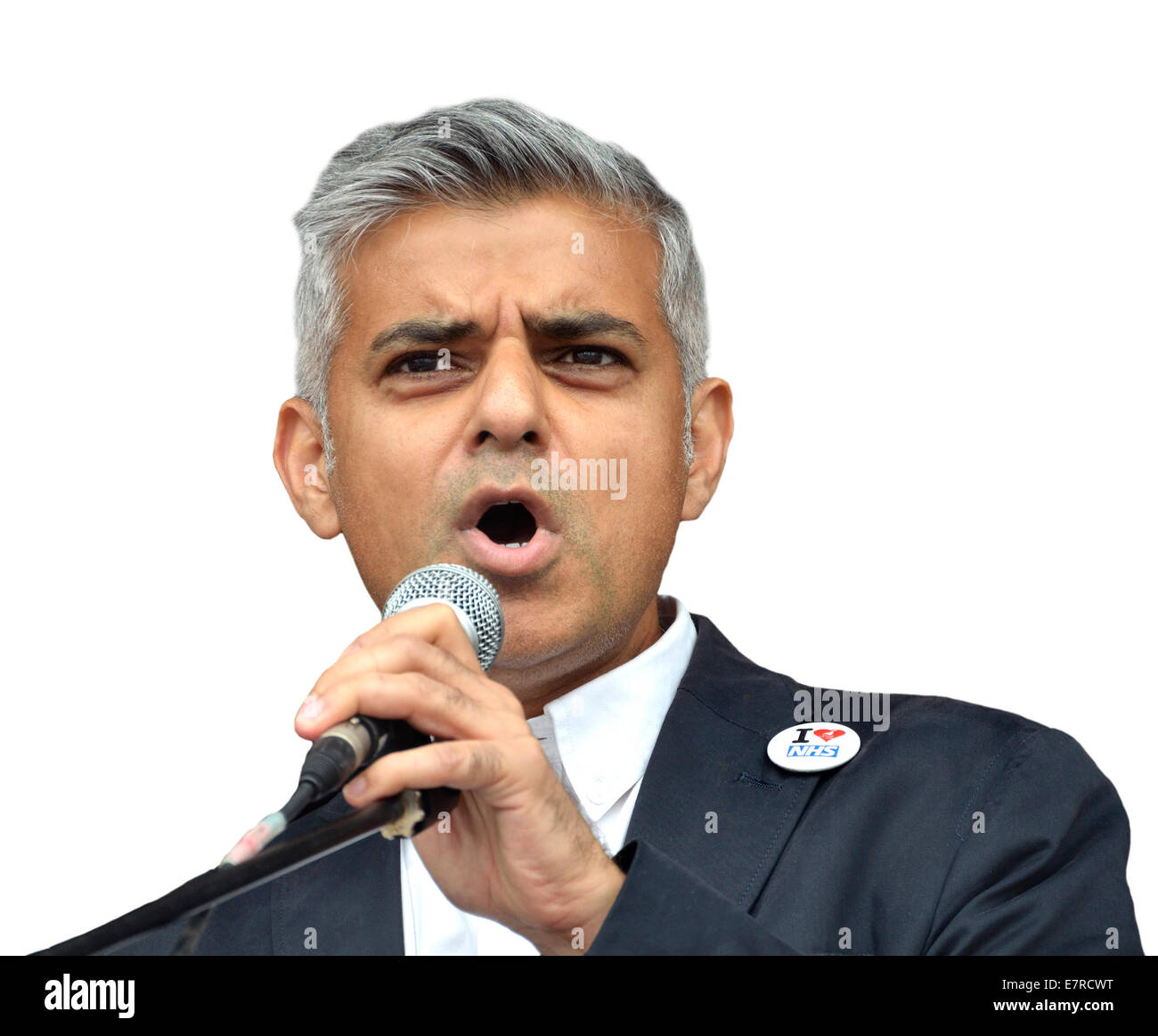Sadiq Khan MP (Labour, Tooting) Shadow Secretary of State for Justice, 2014 - Stock Image