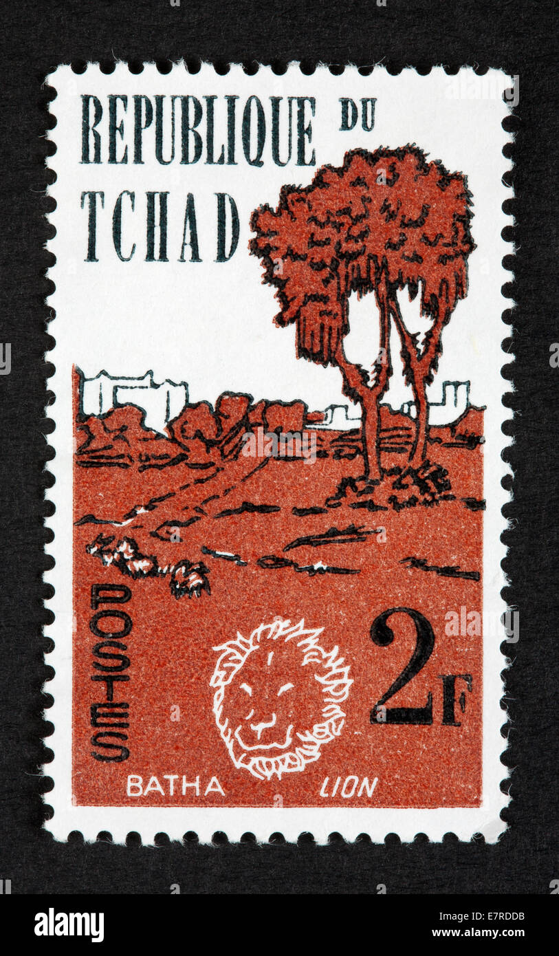Chad postage stamp - Stock Image