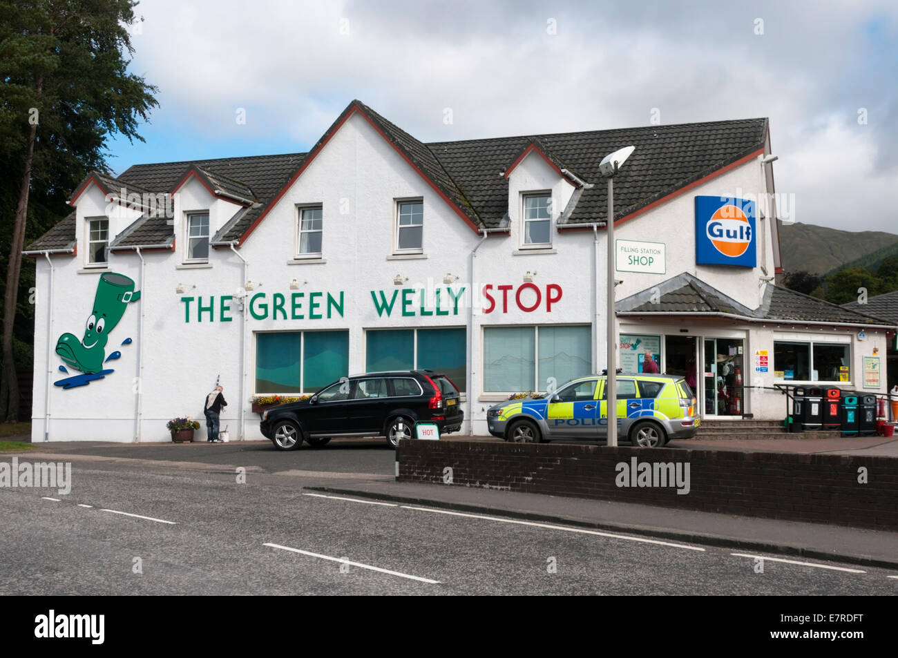 The Green Welly Stop in Tyndrum, Scotland. Stock Photo