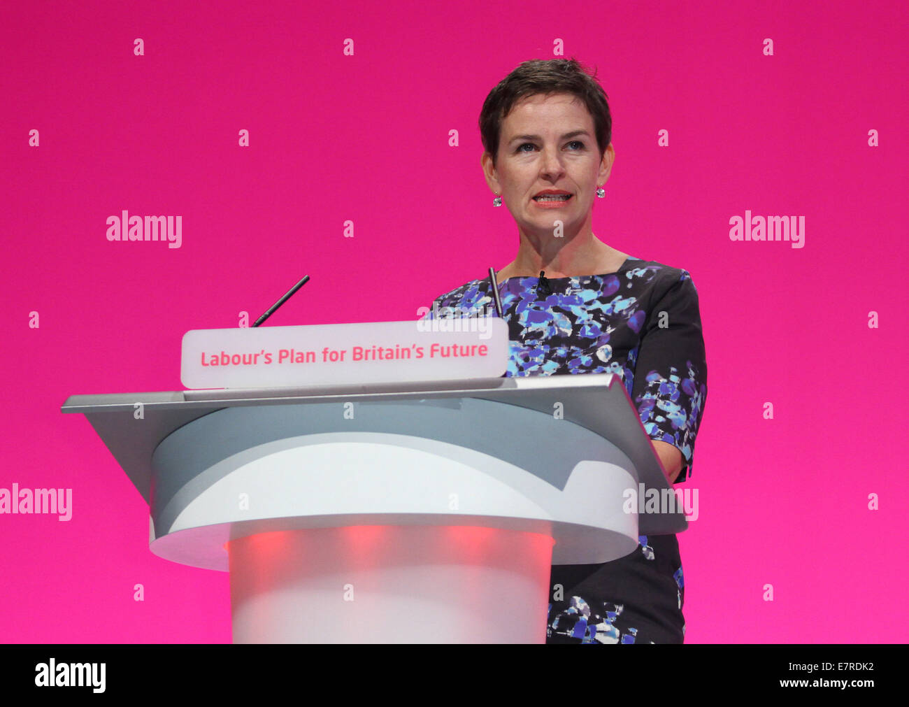 MARY CREAGH MP SHADOW SECRETARY OF STATE FOR 23 September 2014 MANCHESTER CENTRAL MANCHESTER ENGLAND - Stock Image