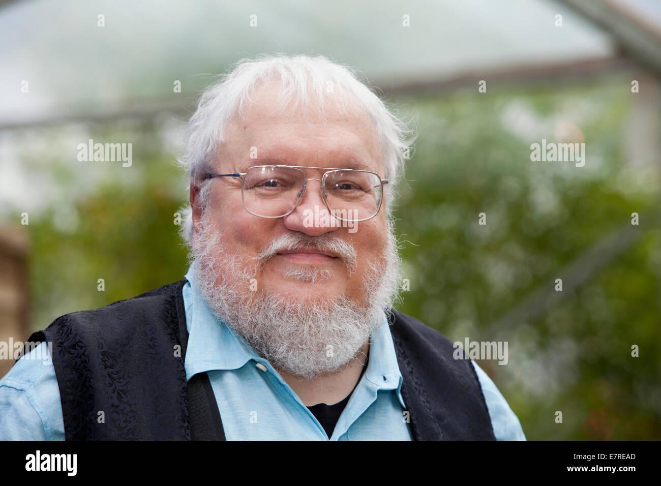 George R.R. Martin, 'Game of Thrones' author, at the Edinburgh International Book Festival 2014. Edinburgh, - Stock Image