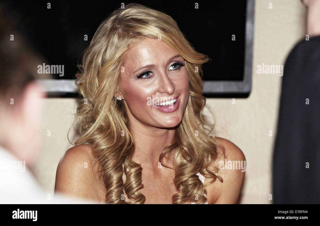 Paris Hilton promoting Alessandro products during her visit at the Beauty Fair.  Featuring: Paris Hilton Where: Stock Photo